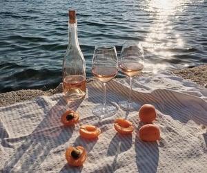 summer, sea, and wine image