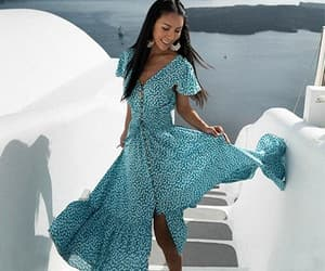 bohemian, summer dress, and vacation style image