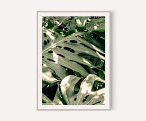 etsy, green leaf, and tropical print image