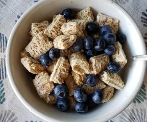 almond milk, blueberries, and breakfast image