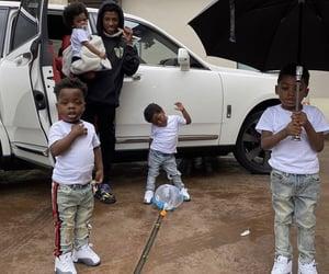 black man, kids, and cult image