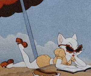 cartoon, cat, and beach image