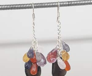sterling silver, christmas gift, and chain earrings image
