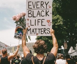 protest and black lives matter image