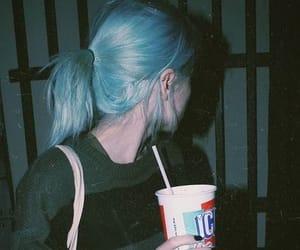 grunge, blue hair, and fashion image