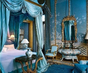 blue, bedroom, and room image