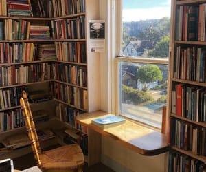books, window, and desk image