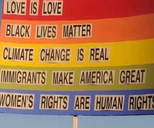 climate change, human rights, and love is love image