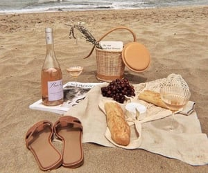 drink, beach, and bread image