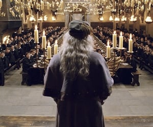 harry potter, hogwarts, and dumbledore image