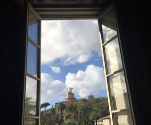 clouds, italy, and rome image