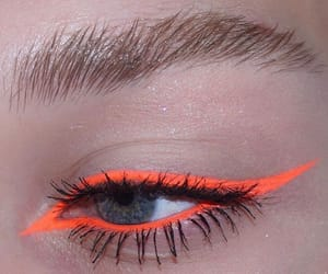 makeup, eye, and orange image