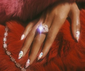nails, red, and diamond image