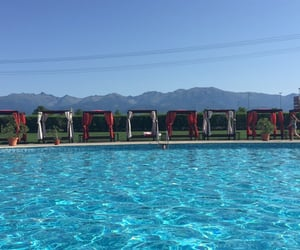 mountain view, pool, and sibiu image