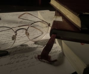 dark academia, glasses, and aesthetic image