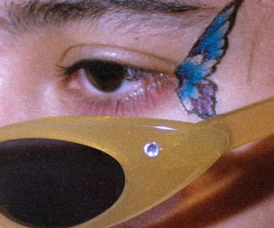 2000s, butterfly, and eye image