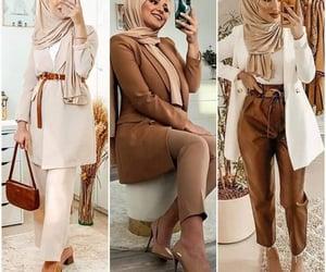 beige, classy, and ladies suit image