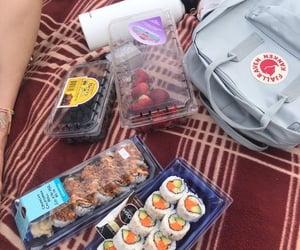 FRUiTS, picnic, and sushi image