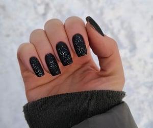 black, matte, and nail art image