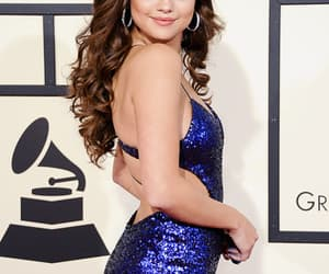 selena gomez, dress, and hair image
