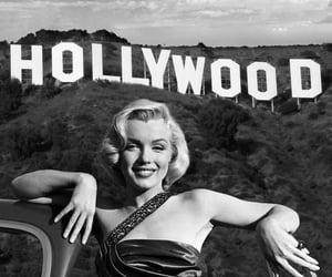 hollywood, Marilyn Monroe, and vintage image