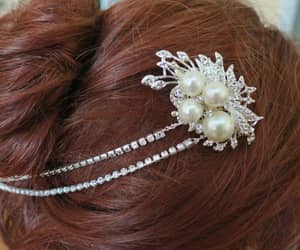 etsy, wedding hair piece, and bridalhairpiece image