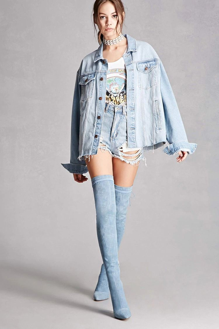 lovely in denim uploaded by RT on We Heart It