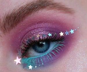 makeup, make-up, and stars image
