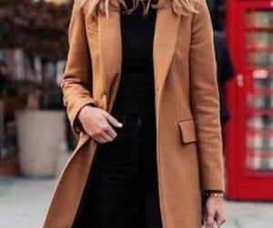 black, coat, and elegant image