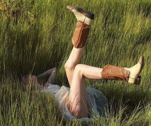 cowboy boots and girl image