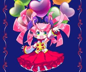 anime girl, heart balloons, and helium image