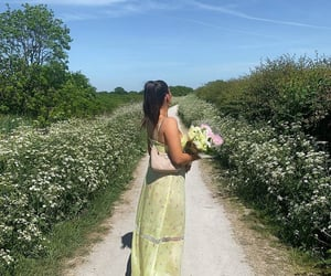 bright, countryside, and dress image