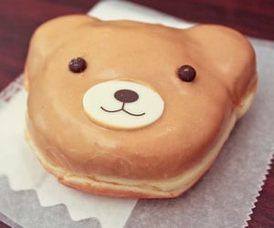 bear, donut, and photography image