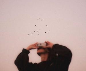 girl, sky, and photography image
