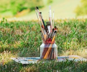 art, brush, and painting image