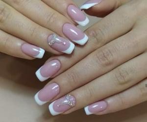 nail, nail art, and french manicure image