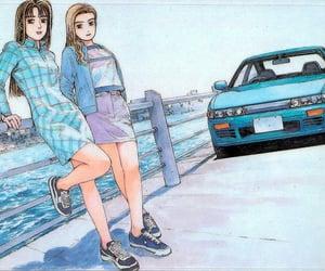 anime, racing, and vintage car image