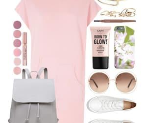fashion, pink dress, and street style image