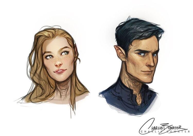 art, couple, and feyre archeron image
