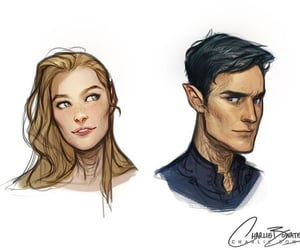 feyre, rhysand, and acomaf image