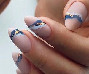 nail art, nails, and blue image
