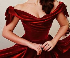 princess, red dress, and velvet image