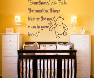 pooh, baby, and heart image