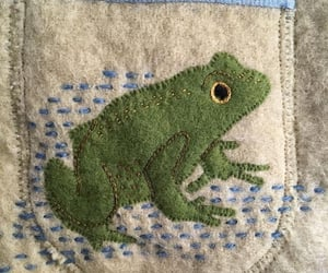 embroidery and frog image