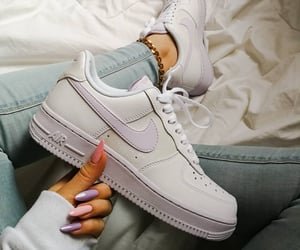 long nails, nails, and sneakers image