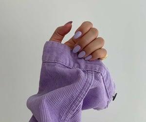 nails, purple, and fashion image