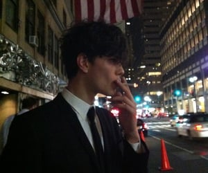 boy, handsome, and smoking image