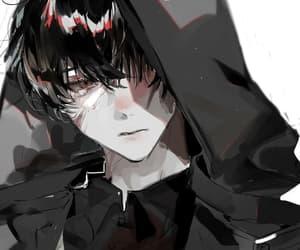 art, black, and anime boy image