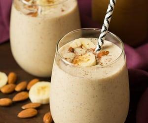 banana, smoothie, and almond image