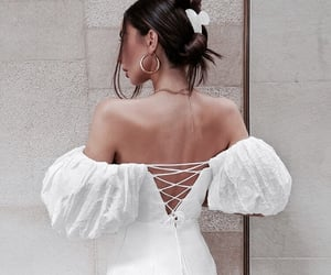 dress, girl, and hairstyle image